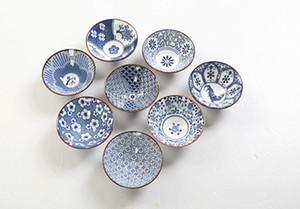 Antik Sır Çay Kupası puer Oolong çayı 1 Adet Fiyatı Drinkware Çay Seti Teacup bardak Handpainted Mavi ve beyaz Seramik Porselen için
