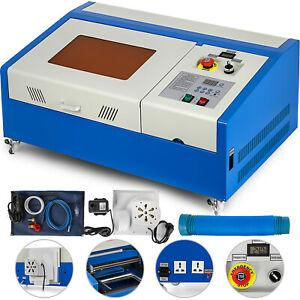Verbesserte 40 Watt USB CO2 Laser Engraver Gravur Schneidemaschine Cutter 300x200mm 40 Watt Laser LCD Display Drehen Räder