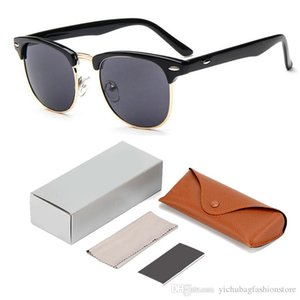 2019 Fashion Sunglasses High Quality Metal Rivet Sunglasses Men Glasses Women Sun glasses UV400 lens Unisex with Original cases and box