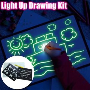 Illuminez Dessin Fun Développement Jouet Dessin Conseil Sketchpad Portable pour les enfants Enfants LHB99