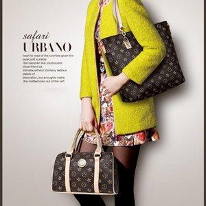 Designer-Rosa Sugao Tragetasche Frauen shoudler Taschen 6pcs / set Handtasche neue Art und Weise schürzt Blume druckte Handtasche Dame Einkaufstaschen PU-Leder