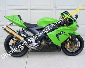 Shell Motorcycle Fit For Kawasaki ZX10R 2004-2005 ZX 10R 2004 2005 ZX10R 04 05 Verde Black ABS Fairing kit (Injecção)