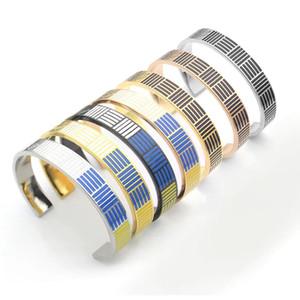 estilo clásico 18K de titanio pulsera de acero modelo explosión letra L esmalte BRAZALETE de perforación de barro brazalete de diamantes completo Precio al por mayor de los brazaletes