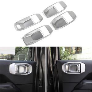 4door puerta interior tazón decorativo de plata para Jeep Wrangler 2018 JL enchufe de fábrica de alta quatlity Auto accesorios internos