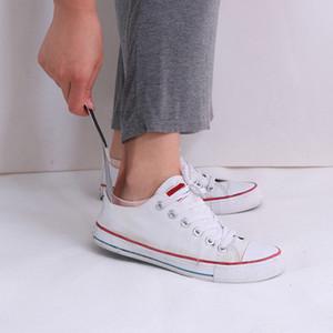 실용 내구성 스테인레스 스틸 실버 톤 구두 혼 리프터 19cm 신발 뿔 전문 구둣 주걱 견고한 슬립 쉬운 핸들