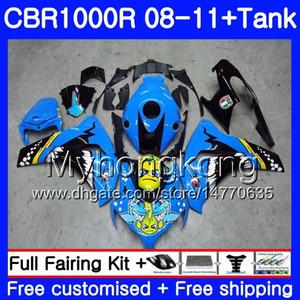 Body + Tank for HONDA CBR1000 RR CBR 1000 RR 08 09 11 277HM.0 CBR1000RR 08 09 10 11 CBR 1000RR 2008 2009 2010 2011 Fairings Shark fish blue