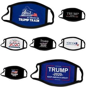 Grosso New Designer Trump Luxo Máscara Facial Algodão de protecção 3 camadas de moda Esporte Meia Face Boca Mask Anti Poluição PM2.5 3D # 716