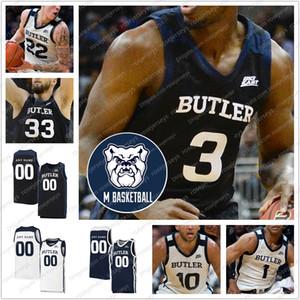 Encargo 2020 de Butler Bulldogs baloncesto # 3 Kamar Baldwin 2 Aaron Thompson 22 Sean McDermott 10 Bryce Nzé Hombres Jóvenes Kid jerseys 4XL
