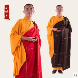 Vestes de monge budista Cassock Fios de linho Sete roupas arrependidas Cassock