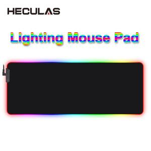 HECULAS Gaming Mouse Pad d'éclairage LED RVB 7 coloré tapis de souris tapis de souris
