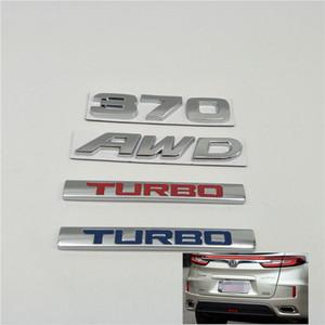 Pour Honda CRV URV Avancier Crown Accord Civic HR-V 370 AWD TURBO Emblem arrière Boot Trunk Tail Logo Autocollants de voiture