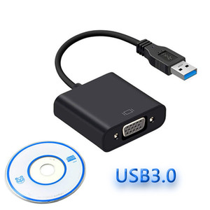 1920x1080p USB Win 7/8/10 Masaüstü Dizüstü PC Monitör Projektör için VGA Adaptör Harici Ekran Kartı Çoklu Ekran Converter 3.0