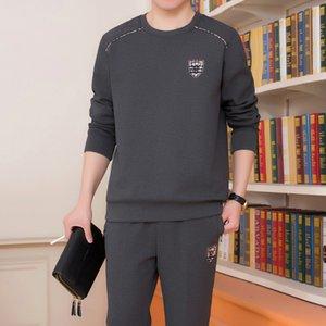 Pop2019 Quinquagenarian Man Motion Leisure Time Suit Suéter de hombre Twinset