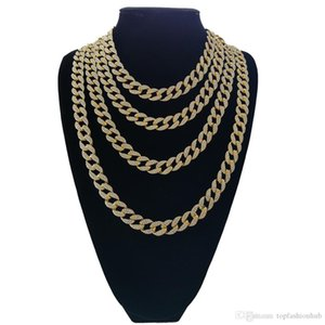 Hip Hop Iced out Cuban Chain Cuban Link Chain Necklace Bling bling Jewelry 16inch 18inch 20inch 24inch 30 inch