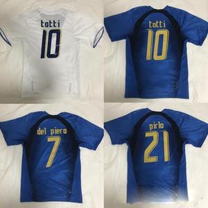 Retro 2006, a Itália Soccer Jersey Gattuso Cannavaro Francesco Totti Del Piero Nesta Inzaghi Pirlo Materazzi Toni 06 Italia camisas de futebol