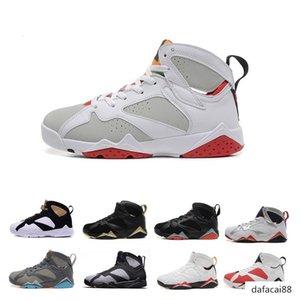 Venta 7 VII 7s zapatos calientes del baloncesto de las zapatillas de deporte de las mujeres de los hombres J7 s Shoes Olímpicos neto Nada Zapatos azules mujer auténtica del cigarro Deportes J7 las zapatillas de deporte