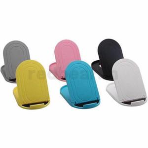 Dobrável ajustável de plástico desktop preguiçoso Stand Holder Folding Suporte Mini Mount Holder para Samsung S9 iphone X Smartphone