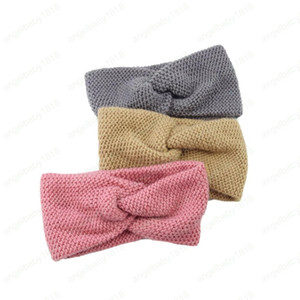 10 Renkler Kış Örme Knot Baş bandı Kadınlar Kulak Isıtıcı Hairband Lady Crochet Geniş Stretch Headwrap Turbans