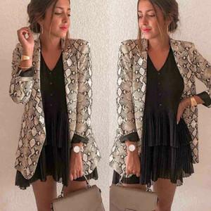 2019 Nouveau Blazer Femmes Mode Slim Casual Top jacket outwear Mesdames Automne Hiver manches longues carrière formelle Manteau long
