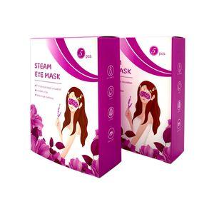 Lavendel Schlafmaske Dampf Augenmaske entlasten Augen tirdness Augen SPA 18,5 * 8 cm anti-dunkler Kreis Augenblutung visuin Pflege fördern