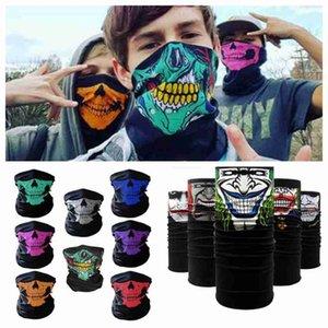 Велоспорт банданы череп маска для лица Хэллоуин волшебные шарфы Спорт на открытом воздухе магия тюрбан шейный платок повязка ZZA2373 3000Pcs Ocean Shipping