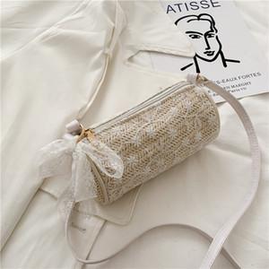 De ombro único pequeno saco 2020 das mulheres ata New Moda feminina Bag Woven Tiaodi todos os tipos de palha trançada pernalta