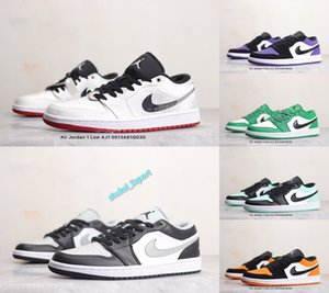 AIR SnakeskinJordanRetro 1 low Basketball Shoes Air 1 TOP 3 Chameleons Black Toe Banned Outdoor Mens Sport AJ 1 Trainers Sneakers