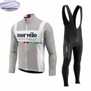 Morvelo Team Langarm Winter Thermal Fleece Radtrikot Set Triathlon Outdoor Sport Ropa Ciclismo Fahrrad Wear 9D Gel Pad