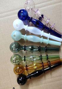 Colorido multi-wheel glass straight pipe Atacado Hookah de vidro, acessórios para tubos de água de vidro, fumar, frete grátis