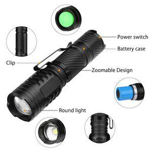 300 метров материал алюминиевого сплава черный мини-фонарик крытый аварийный фонарик открытый кемпинг портативный жизнь водонепроницаемый flashligh