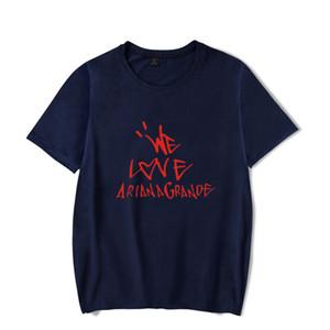 роскошные рубашки Ariana Grande 3D краска хип-хоп женщины дизайнер футболка с коротким рукавом лето уличная футболки повседневная шею хлопок Tee