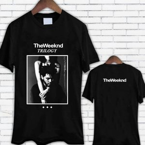 Nuevo The Weeknd Trilogy Album Cover Xo Men Black Tee Shirt Camiseta por encargo Camiseta de buena calidad Top Tee Plus Size