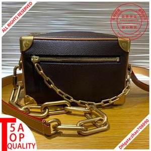Novo estilo sacos de qualidade 5A Top Designer MINI SOFT TRONCO M44480 Homens Bandoleira Sacos de couro verdadeiro saco do mensageiro M30351 ombro saco withbox A005