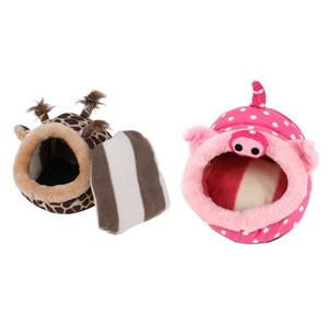 Плюшевый Белок хомячок Клетка для мелких животных кровати Nest House Guinea Pig Шиншилла Hedgehog Hamster Pig Deer кровать Hamster Аксессуары оптом