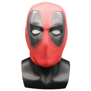 Deadpool 2 Marvel Cosplay Party Masks Costume Helmet Props Movie Latex Mask Overhead T8190617