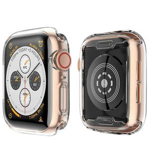 보호 케이스 주위에 TPU 화면 보호기 - 모든 애플 시계 4 케이스와 Buit 인 HD 클리어 울트라 씬 커버를 들어 애플 iwatch 시리즈 4