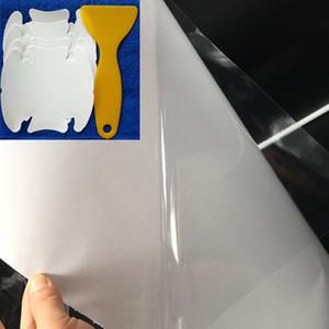 30CM * 500CM Rhino 피부 보호 필름 차 범퍼 두건 페인트 보호 고품질 비닐 명확한 Transparence 필름 반대로 찰상
