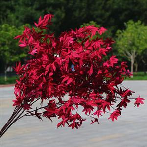 Decor Planta Maple Leaf Artificial Silk Verde para Home Garden Party Natal das folhas de bordo Planta Wall Decor