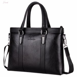 Brand Top Sell Man Bag Fashion Simple Vintage Business Man Briefcase Bag Leather Laptop Bag Casual Shoulder Bags