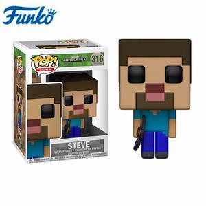 Funko Pop Anime Gioco Minecraft- # 322 STEVE a Diamond ARMOR CREEPER STEVE figura di azione del modello Toys Kids Collection regali di compleanno