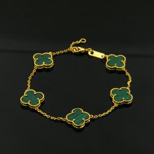 Vendita calda di alta qualità marchio di moda in oro 18 carati bracciale in acciaio al titanio braccialetto foglia colorata adatto per coppia regalo