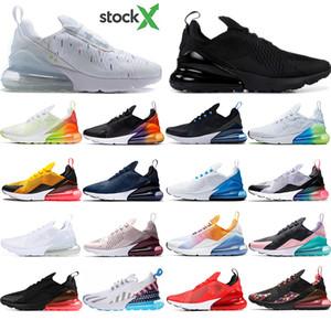 Nike air max 270 2020 رجل وسادة الموضة جديد مصمم الاحذية CNY قوس قزح كعب المدرب نجم الطريق BHM أبيض وردي حجم الحديد رياضة المرأة أحذية رياضية 36-45