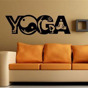 Nouveau YOGA Gym Sport mandala Stickers Muraux Vinyle Art Peintures Murales Décor À La Maison Chambre Chambre Stickers Livraison Gratuite