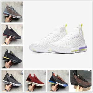 2020 High Quality James 16s Mens Basketball Shoes Men Triple Black White PURPLE Sneakers Watch The Throne King Oreo 16 Equality Szie 40-46