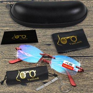 Reading Rhinestone Gafas de Vanlook Mujeres de Grado sin rebordes antirreflejo Eye mirillas con dioptrías 1 1,5 2 2,5 3 3,5 4