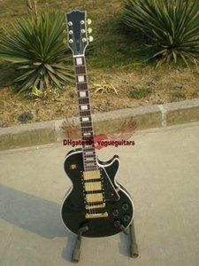 Atacado personalizado Beleza Preto 3 Pickups Electric Guitar Fret Bingding Best Selling Musical Instruments