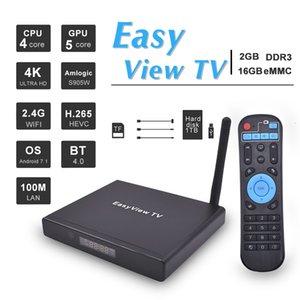 Android 7.1 TV Box Easyview TV 2GB 16GB Amlogic S905W Quad Core 2.4G Bluetooth 4K Media Player v tx3 x96 mini