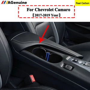 탄소 섬유 내부 기어 시프트 프레임 커버 자동차 버튼을 상징 인테리어 스티커 트림 카마로 17-2천19년
