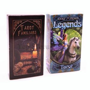 Cartes de Tarot Légendes Tarot Familiers cartes de jeu Plate-forme Board avec boîte colorée Party Game Card English Version Whoselase