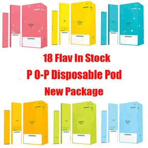 POP Одноразовые устройства Pod Kit 280mAh Аккумулятор 1,2 мл картриджи 400 Puff Vape Pen опорожнить VS Bar Plus Flow Xtra Новый пакет кода безопасности